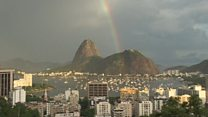 Rainbow graces Rio's Sugarloaf Mountain