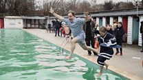 Hundreds take on New Year's Day dip