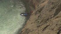 В Перу автобус упал в пропасть со стометровой высоты