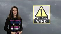Strong wind weather warning for Wales