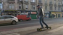 The skateboarders who don't need to push
