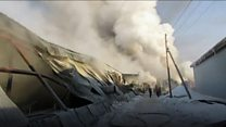 Russia factory fire leaves workers dead