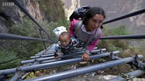 سلم صلب يتحول لرمز محاربة الفقر في الصين