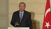 Erdogan berates French journalist
