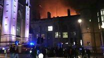 Huge blaze at Bristol University