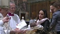 'Don't be afraid to breastfeed here' says Pope