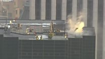 Firefighters tackle Trump Tower blaze