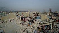 گزارشی از وسعت ویرانی جنگ در موصل