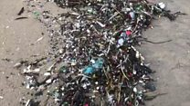 'Tidal wave of waste' swamps beaches in Cornwall