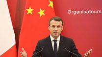 Macron amuses with his Chinese