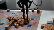 Robot Scrabble battle at CES