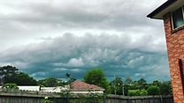 Time-lapse footage shows Sydney storm
