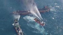Oil tanker still on fire off China coast