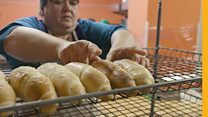Ukraine's front-line bakery bringing hope to a town