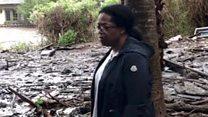 Oprah tours mudslide carnage outside home