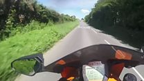 Motorcyclists caught by helmet video showing them speeding