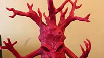 Cheese wax turned into sculptures