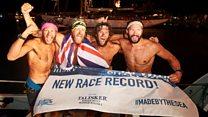 UK amateur rowers break Atlantic record