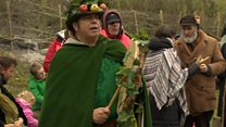 They came a-wassailing to Glastonbury