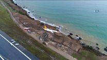 Türkiyə: Trabzon aeroportunda təyyarə zolaqdan çıxaraq dənizə aparan yamaca düşüb.