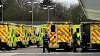 Patient films ambulances hospital queue