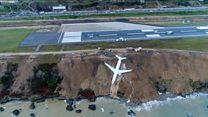 Самолет съехал с полосы в Турции