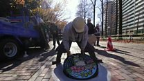 ဂျပန်က အလှဆင်ထားတဲ့ မြောင်းဖုံးများ