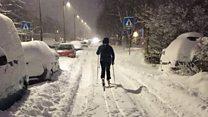 سكان أوسلو يتزلجون إلى العمل