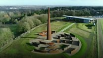 Bomber Command memorial as seen from above
