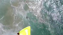 Swimmers rescued by drone