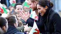 Crowds greet Meghan and Harry in Cardiff
