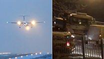 الطائرات تتأرجح والطرق الزلقة في اسكتلندا