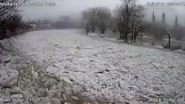 How an 'ice jam' caused flood in minutes