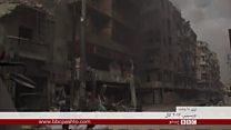 جګړه ځپلي سوريان د حکومت تر ولکې لاندې حلب ته ستنېږي