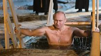 President Putin plunges into icy water