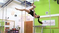 'Why I use pole dance to keep fit'