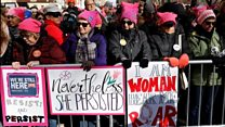 Women's marches draw huge crowds in the US