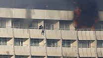 Sheets used to flee Kabul hotel attack