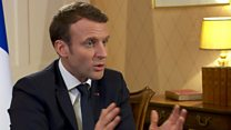 Macron: Trump is not a 'classical politician'