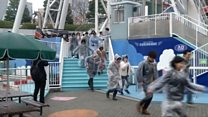 Fair ground evacuated in Japan missile drill