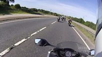 155mph motorcyclists caught on camera