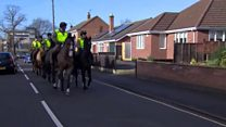 Horseback soldiers surprise for 100th birthday