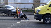 Homeless man's joy at job offer