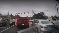Gunfire erupts at Florida intersection
