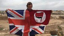 Briton preparing to fight Turkish forces