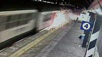 Italy train crash CCTV released