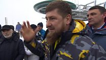Chechen leader questioned on 'gay purge'