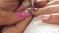 Nail art 'touches' women drug addicts
