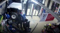 CCTV shows supermarket ram-raid