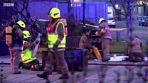 Multiple vehicles damaged in car park fire